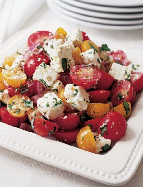 Tomato feta salad barefoot contessa for Ina garten summer garden pasta