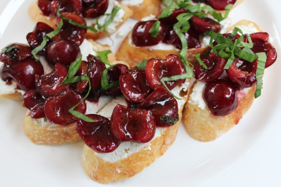 Balsamic Cherry and Goat Cheese Crostini | Barefoot Contessa