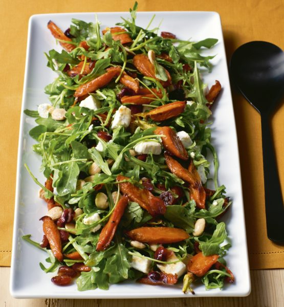 maple-roasted carrot salad | barefoot contessa