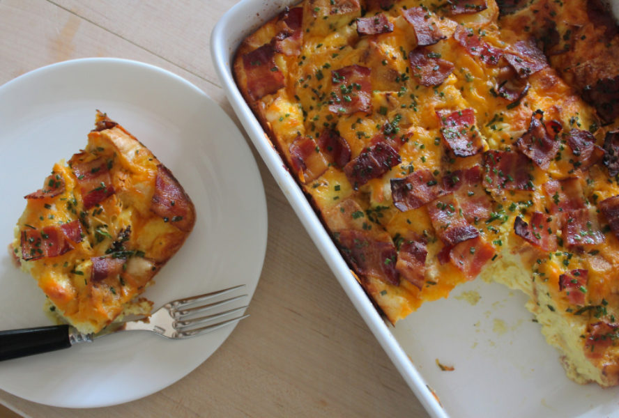 english muffin breakfast bake - Ina Garten Baked Bacon