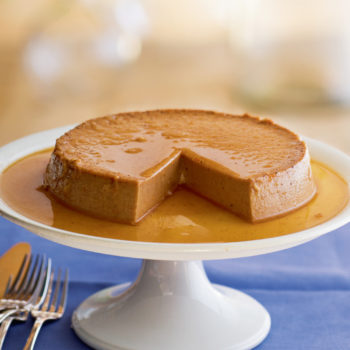 Pumpkin Flan with Maple Caramel Sauce