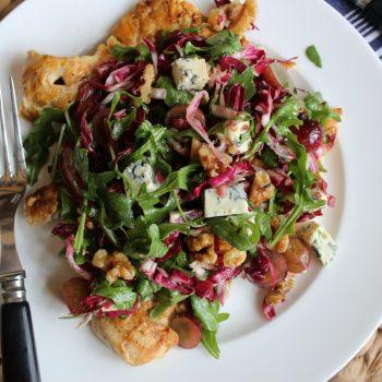 Grilled Chicken Paillard with Winter Green Salad