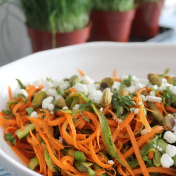Shaved Carrot & Asparagus Salad