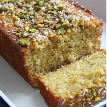 Lemon, Coconut, and Pistachio Cake