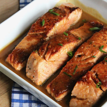 Maple & Ginger Glazed Salmon