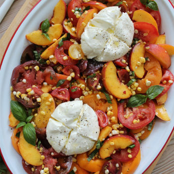 Tomatoes, Peaches, and Corn & Burrata