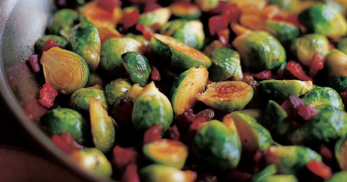 brussels sprouts lardons | recipes | barefoot contessa