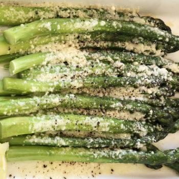 Cacio e Pepe Roasted Asparagus