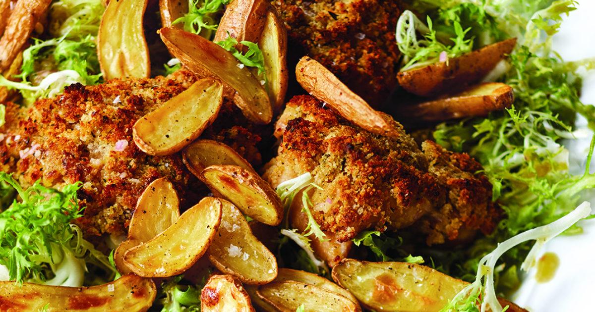 Crispy Mustard Chicken Frisee Recipes Barefoot Contessa