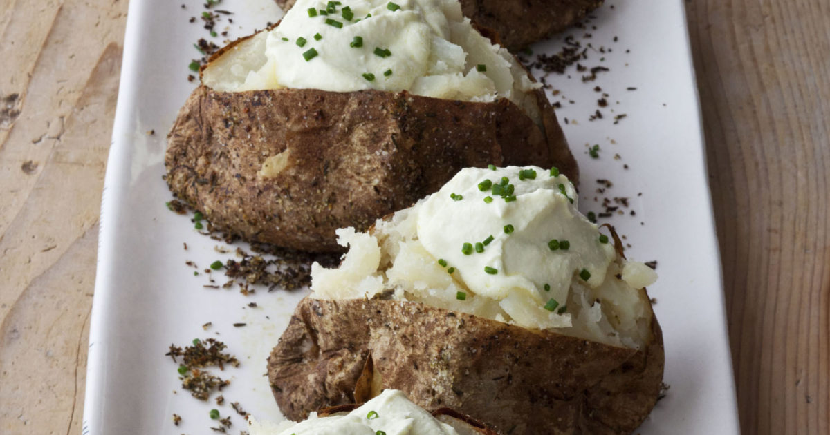 crusty baked potatoes with whipped feta | recipes | barefoot contessa