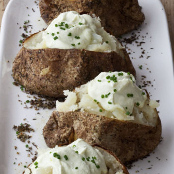 Crusty Baked Potatoes with Whipped Feta