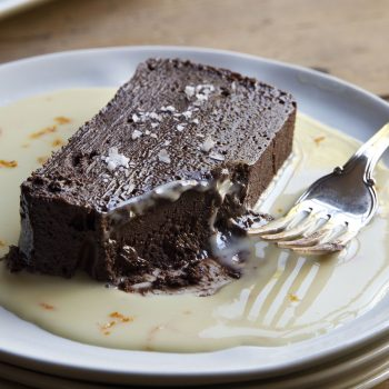 Dark Chocolate Terrine with Orange Sauce