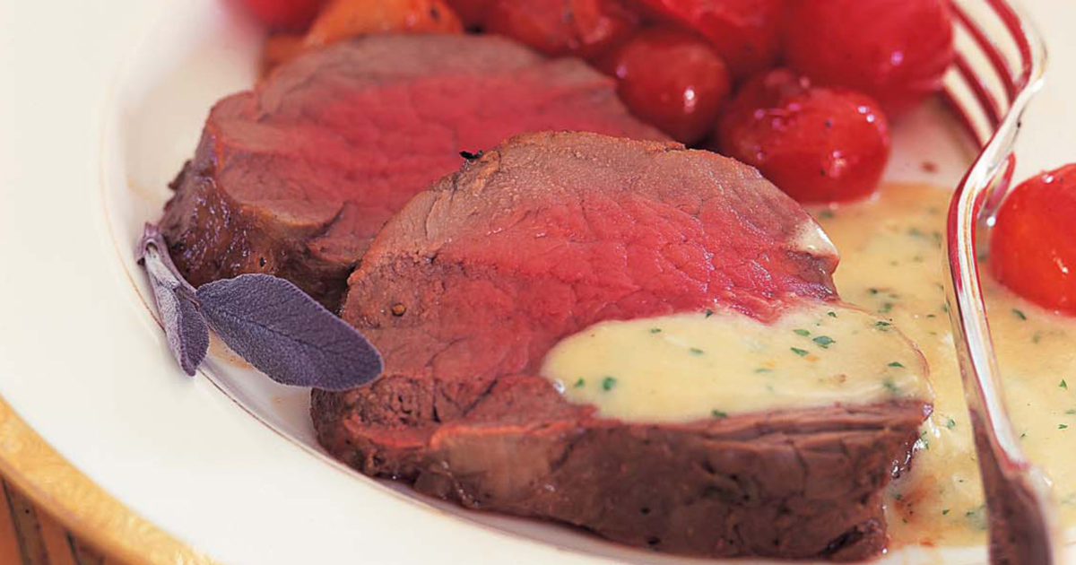 Ina Garten Tenderloin filet of beef with gorgonzola sauce | recipes | barefoot contessa
