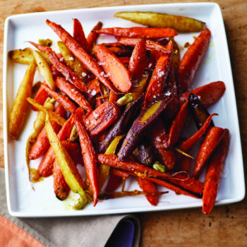 Orange-Roasted Rainbow Carrots