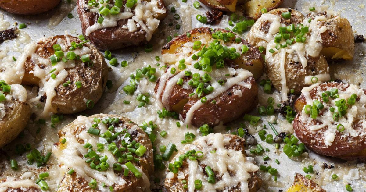 Parmesan Chive Smashed Potatoes Recipes Barefoot Contessa
