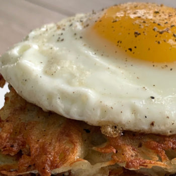 Potato Pancakes with Fried Eggs