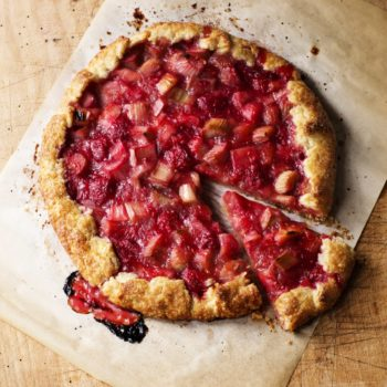 Raspberry Rhubarb Crostata