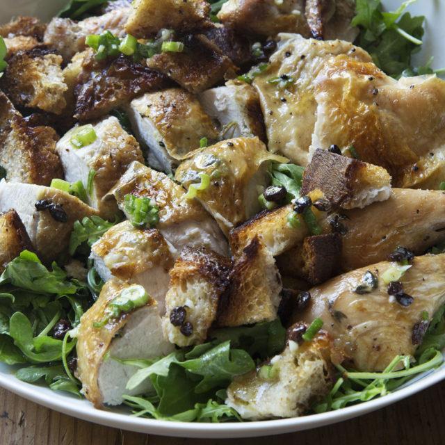 Roast chicken bread salad recipe