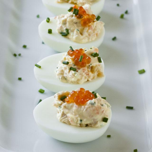 smoked salmon deviled eggs | recipes | barefoot contessa