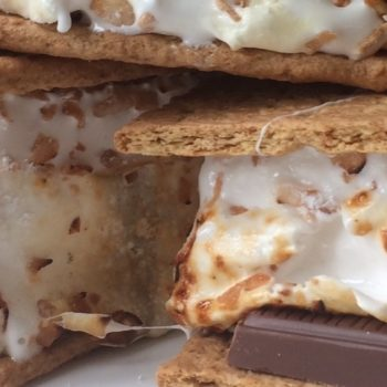 S'mores with Homemade Toasted Coconut Marshmallows