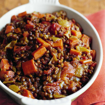 Stewed Lentils & Tomatoes, updated