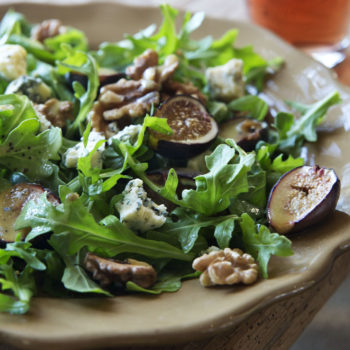 Warm Fig & Arugula Salad